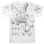 Simpsons Men s Simpsons Sketch T-shirt White a15fac974