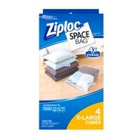 Ziploc Space Bag Cube Combo, XL, 4 count
