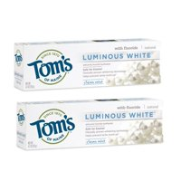 (2 Pack) Tom's of Maine Luminous White Toothpaste, Clean Mint, 4.7 Oz