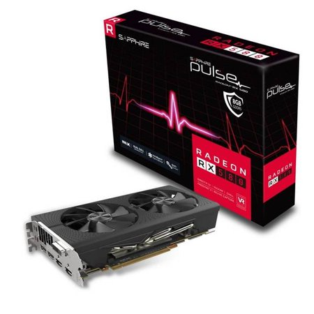 Sapphire PULSE 11265-05-20G RX 580 8GB GDDR5 PCI-E DUAL HDMI / DVI-D / DUAL DP OC W/BP (UEFI) Lite Retail Gaming Bundle