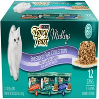 Fancy Feast Medleys Shredded Fare Collection Wet Cat Food- (12) 3-oz. Cans