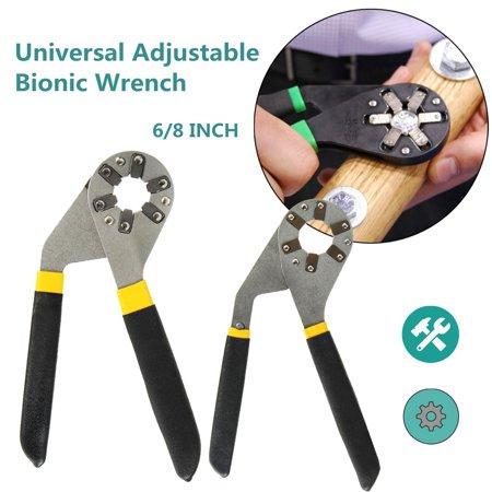 Plier Wrench - 6/8 inch Adjustable Hexagon Universal Quick Magic Wrench Adjustable Plier