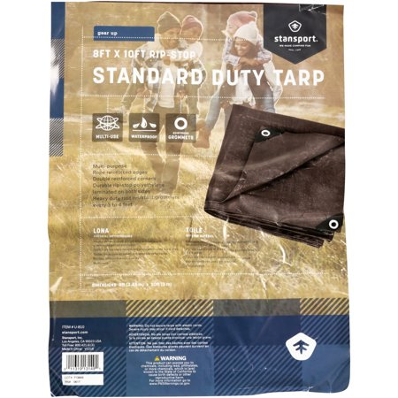 - Stansport U-810 Rip Stop Tarp - 8 Ft X 10 Ft - Brown - Standard Duty