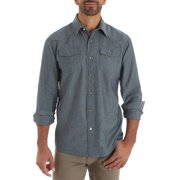 9ad1c0f83a6 Big Men s Long Sleeve Western Snap Shirt