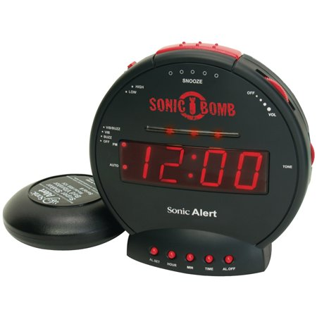 SBB500SS Sonic Bomb Alarm Clock with Super Shaker ()