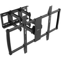 "QualGear Heavy-Duty Full Motion TV Wall Mount for Most 60""-100"" Flat Panel and Curved TVs, Black"