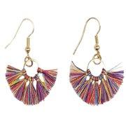 8f1261ffd Women Bohemian Mini Fringe Tassels Gold Statement Hanging Earrings (Multi)