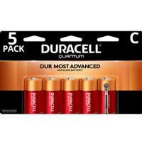 Duracell 1.5V Quantum Alkaline C Batteries with PowerCheck, 5 Pack