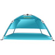 b9e02e949af4 Beach Umbrella Tent Automatic Pop Up Sun Shelter UPF 50+ Cabana Camping  Hiking Canopy by