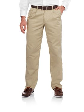 Big Men's Pleated 100% Cotton Twill Pant with Scotchgard