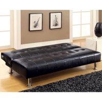 Venetian Worldwide Bulle Faux Leather Futon Sofa