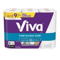 Viva Multi-Surface Cloth Paper Towels, Choose-A-Sheet, 6 Big Rolls, 83 Sheets Per Roll (=9 Regular Rolls)