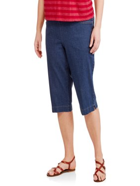 Women's Plus-Size 2 pocket Pull-On Capri