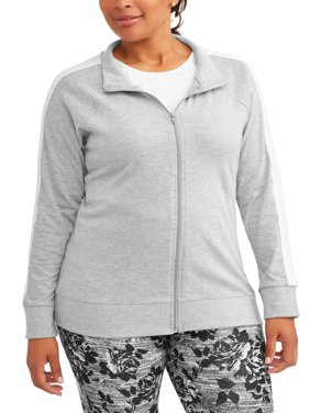 Women's Plus Active Bomber Zip Front Jacket