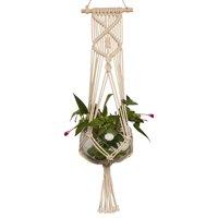 1/2PCS TSV Macrame Plant Hanger Indoor Outdoor Hanging Planter Basket Cotton Rope 4 Legs 36 Inch