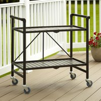 Cosco Metal Slat Folding Serving Cart