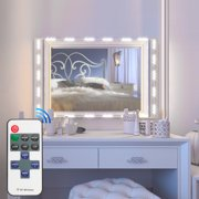 Vanity Mirror Lights Kit, TSV Dimmable 10FT 60 LED White Dressing Mirror Lighted Cosmetic Makeup Vanity Light with Remote and Hand-Reach Controller
