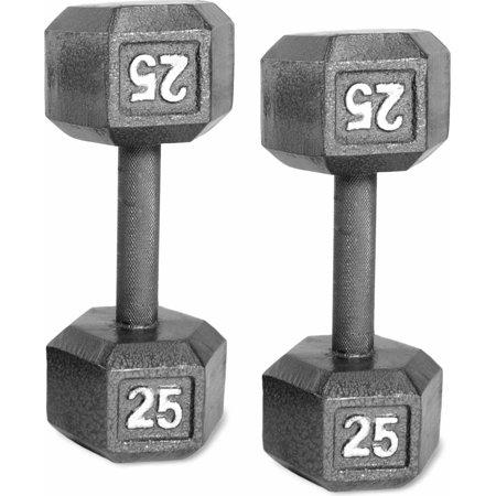 CAP Barbell Cast Iron Dumbbell, Pair 3lbs - 50lbs