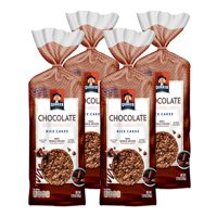 (4 Pack) Quaker Rice Cakes, Chocolate Crunch, 7.23 oz Bag