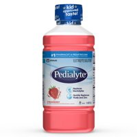 (4 pack) Pedialyte Electrolyte Solution, Strawberry, Hydration Drink, 1 Liter