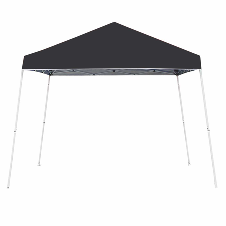 Z-Shade 10' x 10' Angled Leg Instant Shade Canopy Tent Portable Shelter, - Leg Canopy Shelter