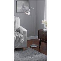 Mainstays Gooseneck Silver Floor Lamp