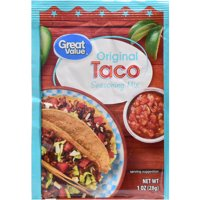 (6 Pack) Great Value Original Taco Seasoning Mix, 1 oz