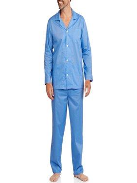 Fruit of the Loom Men's Long Sleeve Long Pant Solid Pajama
