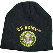 U.S. United State Army Logo Knit Cuffless Beanie Hat Black 031d8a46b