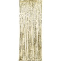 (2 pack) Gold Foil Fringe Door Curtain, 3ft x 8ft