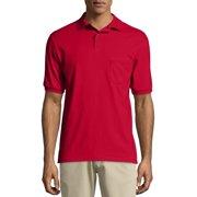 64c2cdea1 Hanes Big men's ecosmart short sleeve jersey polo shirt with pocket