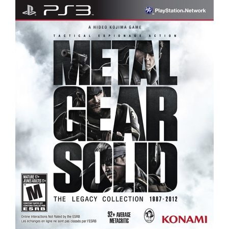Metal Gear Solid Legacy, Konami, Playstation 3, (Metal Gear Solid 5 Ground Zeroes Rating)