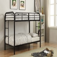 ACME Eclipse Twin/Twin Bunk Bed, Black