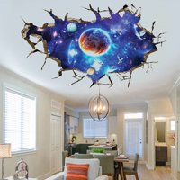 3D Outer Space Universe Wall Sticker Nursery Children Room Decal Mural Home Decor Removable