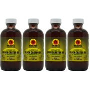 "Tropic Isle Living Jamaican Black Castor Oil 4 Oz ""Pack of 4"""