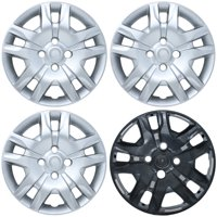 """CoverTrend (Set of 4 Pack) fits 2007 2008 2009 2010 2011 2012 NISSAN SENTRA 16"""" INCH Replica Bolt On Hub Caps - Wheel Covers - Cap (Replaces 570-53084, 53074, 40315ZT50A, 403159AA0B, 40315ET00A)"""