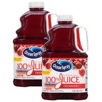 (2 Pack) Ocean Spray 100% Juice, Cranberry, 101.4 Fl Oz, 1 Count