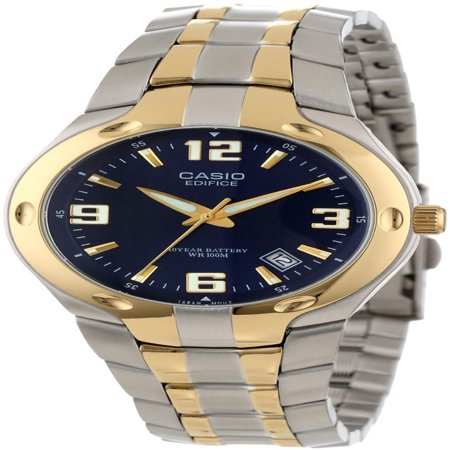 Men's Edifice 10-Year Battery Analog Watch, Two Tone Stainless Steel - Watch Halloween 2