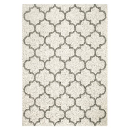 Mainstays Trellis 2-Color Textured Olefin Shag Area Rug and