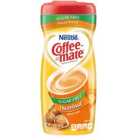 (6 Pack) COFFEE-MATE Sugar Free Hazelnut Powder Coffee Creamer 10.2 oz. Canister