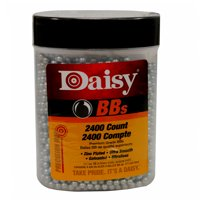 Daisy Bottle .177 Cal Zinc-Plated Steel BBs, 2400 ct