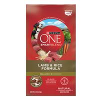 Purina ONE SmartBlend Natural Lamb & Rice Formula Adult Dry Dog Food - 8 lb. Bag