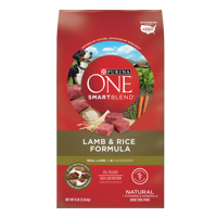 Purina ONE Natural Dry Dog Food; SmartBlend Lamb & Rice Formula - 8 lb. Bag