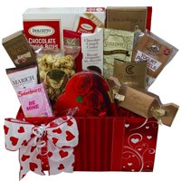 Sweet Love Chocolate and Treats Gift Box - Valentine's Day Gift Basket