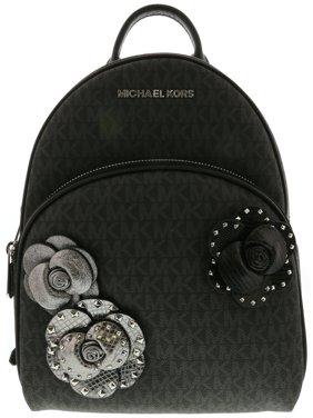 Michael Kors Women's Abbey Medium Leather Backpack - Black