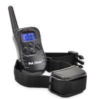 Petrainer PET998DR1  Dog Training Collar Rechargeable and Rainproof 330 yds Remote LCD Dog Shock Collar with Beep, Vibra and Shock Electronic Collar