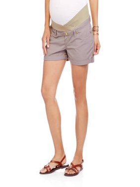 Maternity Underbelly Stretch Poplin Cuffed Shorts - Available in Plus Sizes