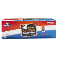 Elmer's All-Purpose Washable School Glue Sticks, 0.24 oz, 60 Count
