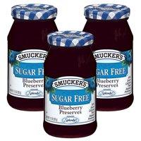 (3 Pack) Smucker's: Blueberry Sugar Free Preserves, 12.75 oz