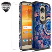 Moto G6 Play Case, Moto G6 Forge Case With Tempered Glass Screen Protector, KAESARSlim